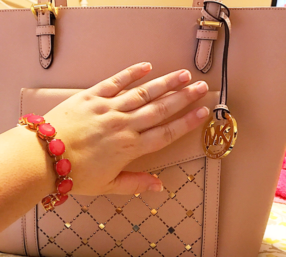 pink-bracelet-and-blush-michael-kors-tote
